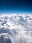 Fluffy Framed Prints - Clouds From Above Framed Print by Paul Velgos