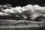 Black N White Art - Clouds of the Wild West by Laszlo Rekasi