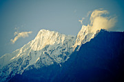 Ganga Photos - Clouds on the peak Himalayan by Raimond Klavins