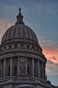 Capital Building Prints - Clouds Over Democracy Print by Sebastian Musial