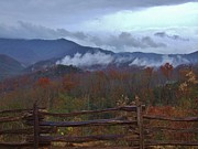 Gatlinburg Framed Prints - Clouds Over Gatlinburg Framed Print by Steven Ellis