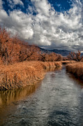 Winter Storm Metal Prints - Clouds over Lower Owens Metal Print by Cat Connor