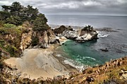 Big Sur Ca Art - Clouds Over McWay by Adam Jewell
