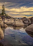 Sierras Photos - Clouds Over Sand Harbor by Marc Crumpler