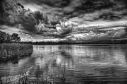 Storm Clouds Prints - Clouds Over The Mill Pond  Print by Thomas Young