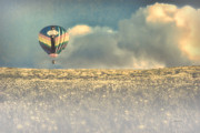 Hot Air Balloon Posters - Clouds Within Clouds Poster by Bob Orsillo