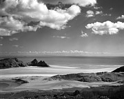 Black And White Landscape Photograph Posters - Cloudscape at Three Cliffs Poster by Paul Cowan