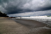 Grey Clouds Photo Originals - Cloudy Beach Day by Marc Levine
