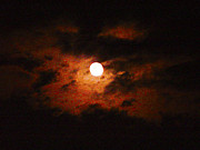Cantaloupe Photo Prints - Cloudy Night Sky Print by Robert J Andler