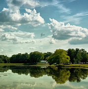 Country Side Prints - Cloudy Reflections Print by Kim Hojnacki