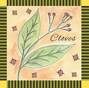 Kitchen Decor Drawings Prints - Cloves Garden Art Print by Christy Beckwith