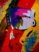 Abstracts - Clown In Office by Allen n Lehman