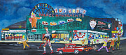 Asbury Park Paintings - Clown Parade at the Palace by Patricia Arroyo