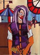 Clown Pourpre Print by Mirko Gallery