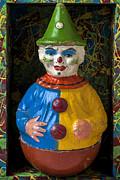 Clown Toy In Box Print by Garry Gay