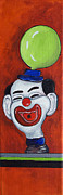 The Shoot Paintings - Clown with green Balloon by Patricia Arroyo