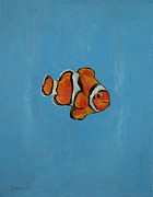 Fish Print Prints - Clownfish Print by Michael Creese