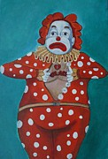 Palace Amusements Framed Prints - Clownies Last Tattoo Framed Print by Patricia Arroyo