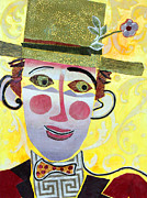 Caricature Mixed Media Framed Prints - Clowning Around Framed Print by Diane Fine