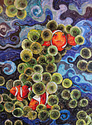 Clown Fish Mixed Media - Clowning Around by Susan Kissinger
