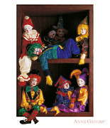 Friends Photo Framed Prints - Clowns Framed Print by Anne Geddes