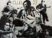 Jimi Hendrix Prints - Club 27 Print by Barry Boom