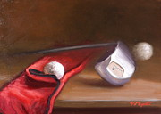 Golf Ball Painting Originals - Club and Balls by Viktoria K Majestic