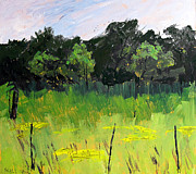 Indiana Landscapes Paintings - Clusters of Black-Eyed Susans by Charlie Spear
