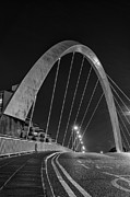 Images Of Night Prints - Clyde Arc Glasgow Squinty Bridge Print by John Farnan
