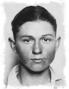 Fbi Prints - Clyde Champion Barrow  1909 - 1934 Print by Daniel Hagerman