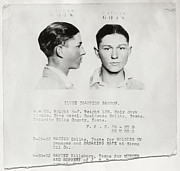 Fbi Prints - Clyde Champion Barrow Mugshot - Dallas Texas  Print by Daniel Hagerman