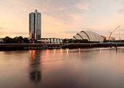 Glasgow Scotland Cityscape Prints - Clyde waterfront Print by Grant Glendinning