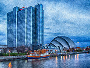 Business-travel Digital Art Prints - Clydeside Glasgow Painting Print by Antony McAulay