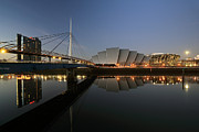 Glasgow Cityscape Framed Prints - Clydeside Reflections  Framed Print by Grant Glendinning
