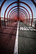 Gritty Framed Prints - Clydeside Walkway Framed Print by John Farnan