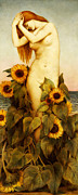 Sunflower Paintings - Clytie by Evelyn De Morgan
