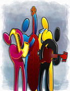 Quartet Mixed Media Prints - CMYK Jazz Print by Mario Macari