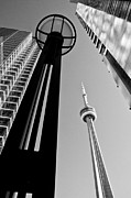 Arkady Kunysz Framed Prints - CN Tower surrounded Framed Print by Arkady Kunysz