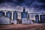 Feed Mill Metal Prints - Co-Op 2 Metal Print by Todd and candice Dailey