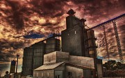 Feed Mill Metal Prints - Co-Op Metal Print by Todd and candice Dailey