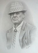 Bear Bryant Drawings Posters - Coach Poster by Don Cartier