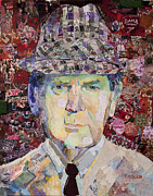 Bryant Mixed Media Prints - Coach Paul Bryant Print by Alaina Enslen