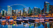 City Scape Photo Framed Prints - Coal Harbour Framed Print by Ian Stotesbury