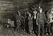 Coal Mine Mule Drivers  1908 Print by Daniel Hagerman