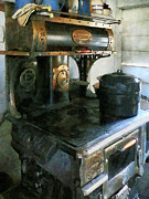 Gifts For A Cook Posters - Coal Stove Poster by Susan Savad