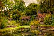 Tea Tree Framed Prints - Coalport Canal Framed Print by Adrian Evans