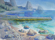 Oil On Canvas Drawings - Coast by Alexander Maslik