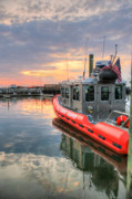 American Flag Photo Prints - Coast Guard Anacostia Bolling Print by JC Findley