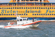 Staten Island Ferry Framed Prints - Coast Guard Response Boat-Medium I Framed Print by Clarence Holmes