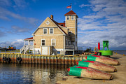 Country Cottage Photos - Coast Guard Station by Debra and Dave Vanderlaan
